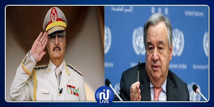 Libye: le secrétaire général de l'ONU rencontre le maréchal Haftar