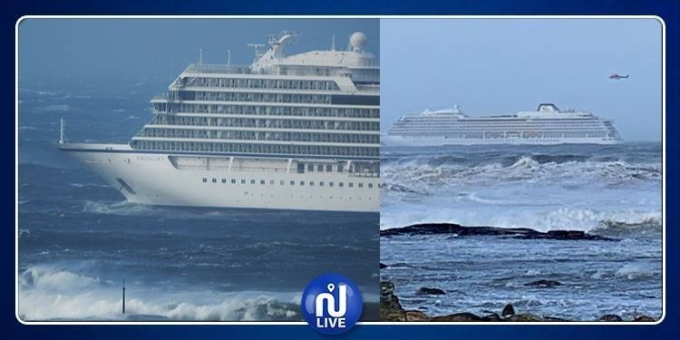 لحظات مرعبة لركاب السفينة العالقة في عرض بحر النرويج (فيديو)