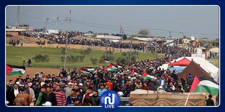 استشهاد فلسطيني برصاص الاحتلال في احتجاجات على حدود غزة