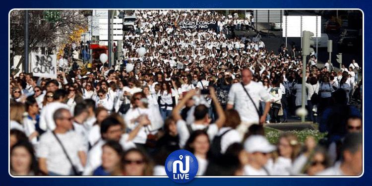 البرتغال: مسيرة ''بيضاء'' تجوب شوارع لشبونة