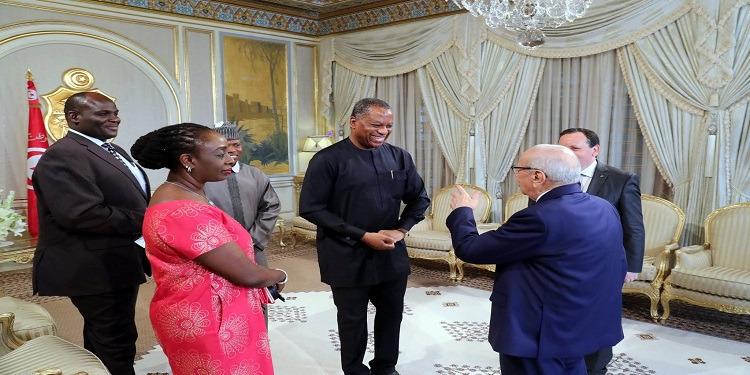 رئيس الجمهورية يستقبل وزير الخارجية النيجيري