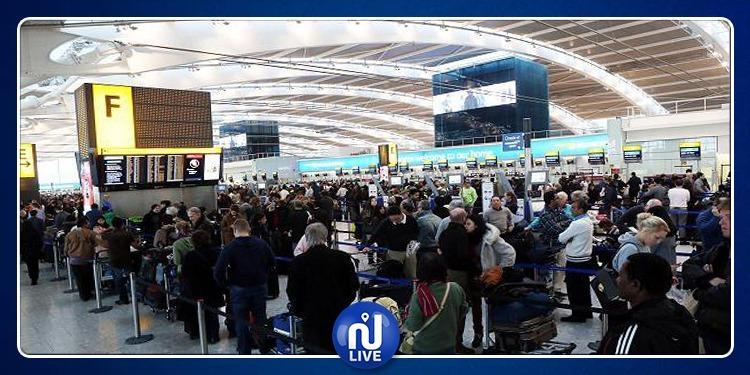 إيقاف الرحلات بأكبر مطار في لندن لأسباب أمنية
