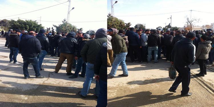 متابعة/المحرس: استعمال الغاز المسيل للدموع لتفريق المحتجين