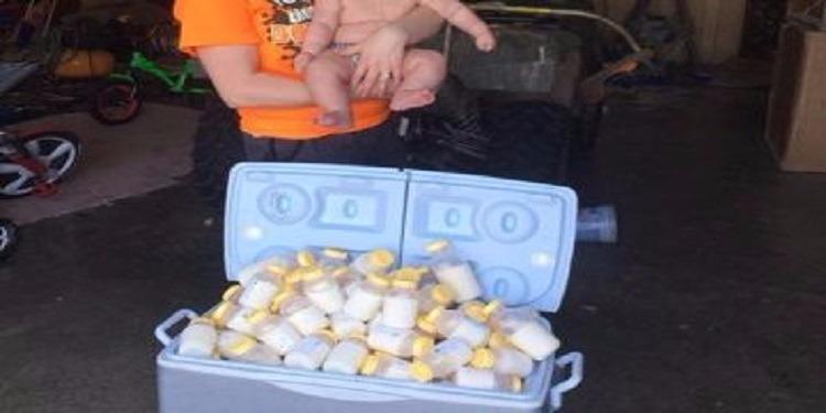 أم تتبرع بـ 30 لترا من حليبها لضحايا إعصار ''هارفي'' (فيديو)