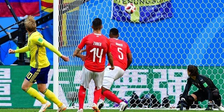Coupe du Monde (8e de finale): La Suède bat la Suisse 1- 0