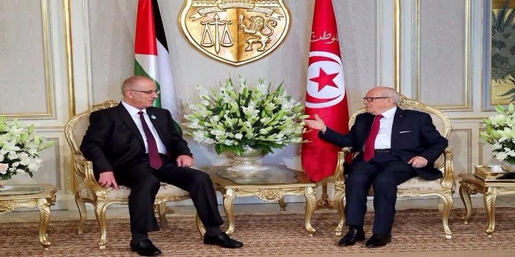 القضية الفلسطنية محور لقاء الباجي قايد السبسي برئيس الوزراء الفلسطيني