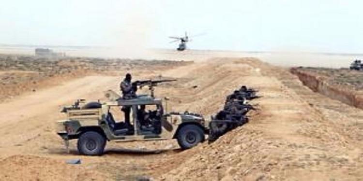 المنطقة الحدودية العازلة برمادة: تبادل إطلاق النار بين تشكيلة عسكرية ومسلحين على متن 6 سيارات مجهزة بأسلحة رشاشة