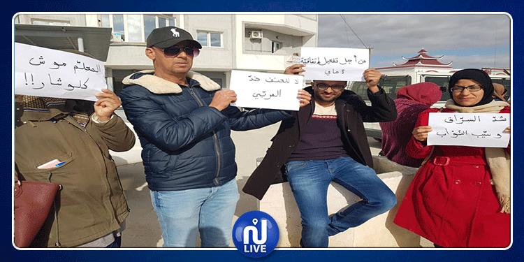 القيروان: فض اعتصام المعلمين النواب بالقوة العامة (فيديو)