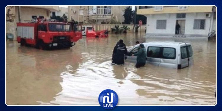 جندوبة: مياه وادي مجردة تغمر 3 منازل