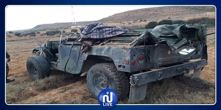 سيدي علي بن عون : إصابة 4 جنود في إنقلاب سيارة عسكرية (صور)