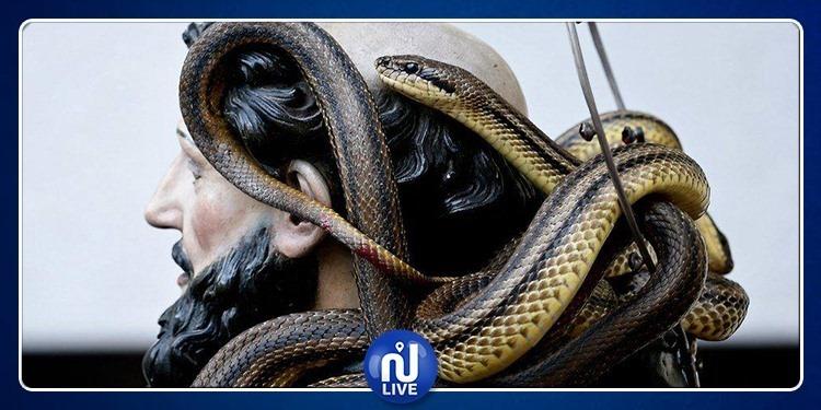 Les Italiens fêtent le festival des serpents