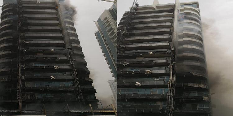 Une tour de Dubaï ravagée par les flammes mais pas de victimes (Vidéo)