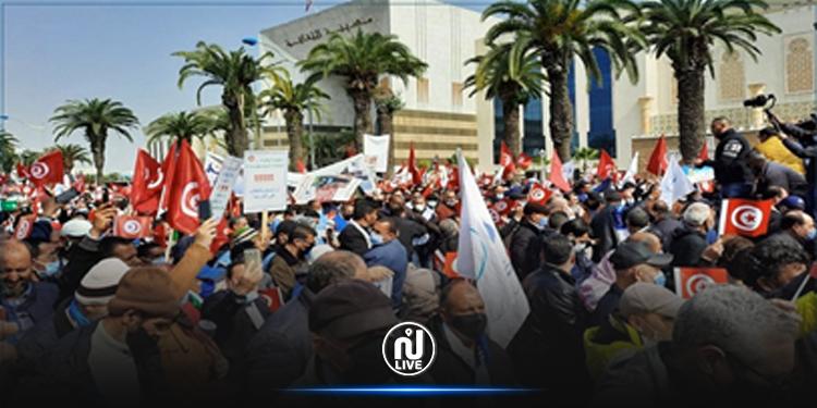 Tunis : Marche de soutien d'Ennahdha au gouvernement Mechichi