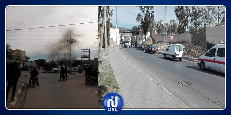 Kasserine: Marche et accrochages avec les forces de l'ordre