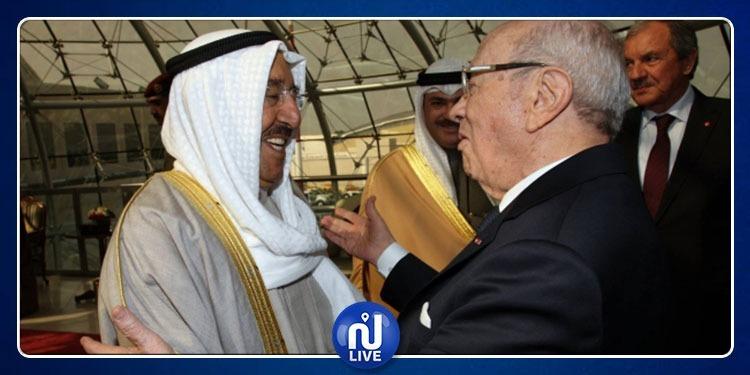 الباجي قايد السبسي يوجه دعوة لأمير الكويت لزيارة تونس
