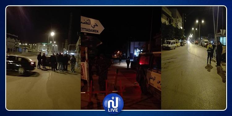 حي التضامن: ايقاف 7 أشخاص وتواصل التواجد الامني بالمنطقة