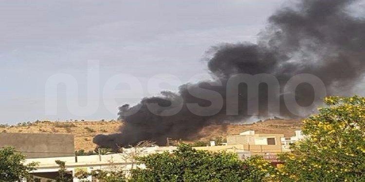 تطاوين: حريق داخل الثكنه العسكرية (صور)
