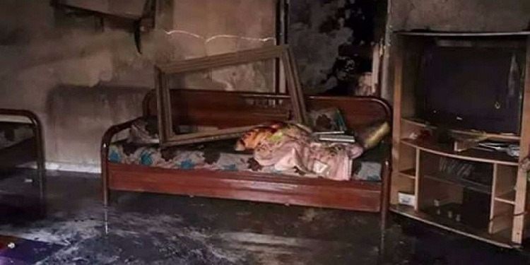 سوسة: حرق منزل عون الأمن كان مفتعلا وسبقته محاولة اختطاف إبنه (صور)