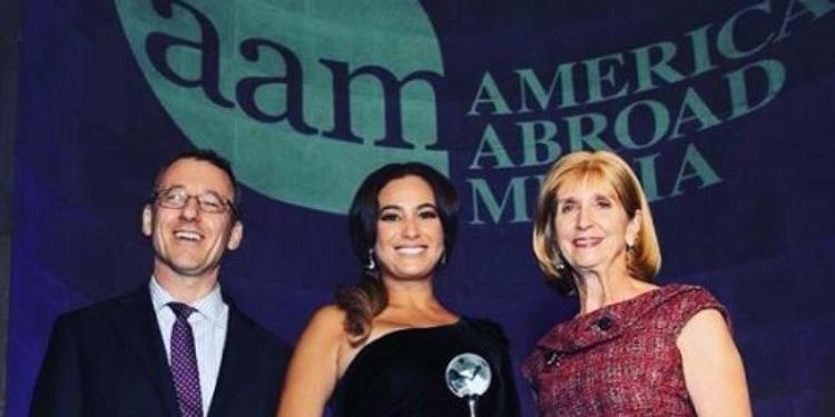 Hend Sabri reçoit le prix ''power of film'', à Washington