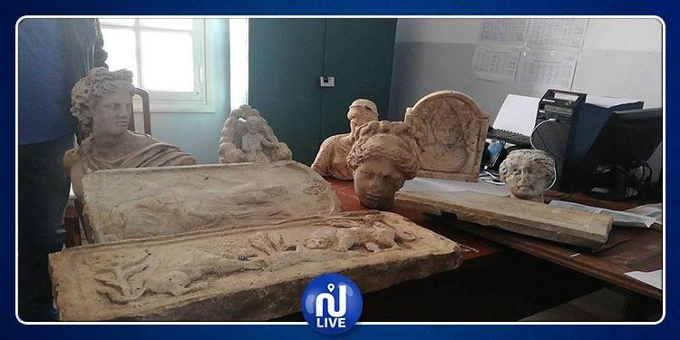 مساكن: حجز 25 قطعة أثرية وتماثيل بقيمة 4 مليارات
