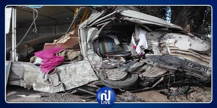 Tragique accident à Zaghouan: 1 mort et 10 blessés
