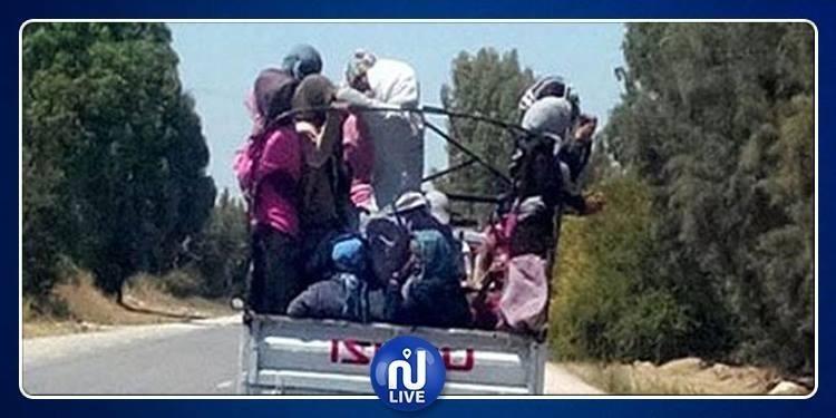 Accident de la route à Kasserine: 15 ouvrières agricoles blessées