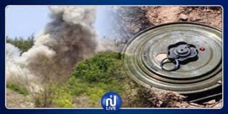 Un soldat blessé par l'explosion d'une mine, au Mont Orbata