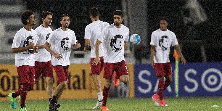 بسبب ''قميص تميم'' منتخب قطر يواجه عقوبات تأديبية
