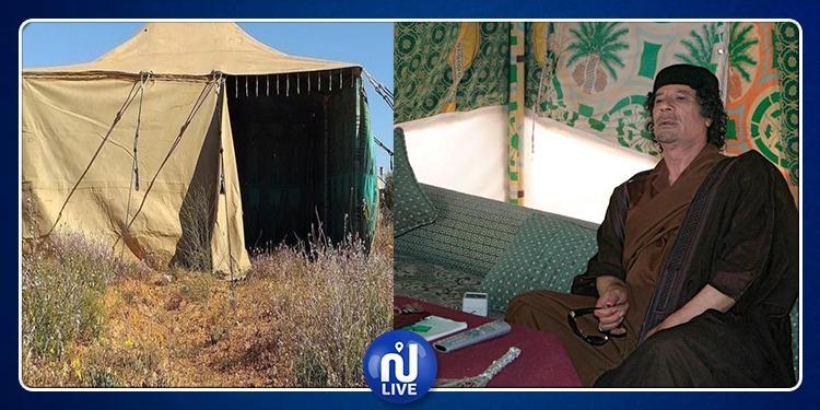 يستقبل فيها الرؤساء.. خيمة القذافي الشهيرة للبيع !