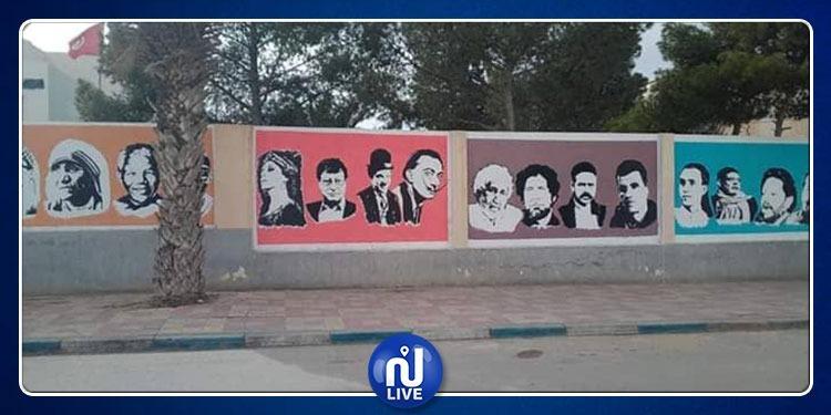 سيدي بوزيد : شخصيّات وطنية وعالمية تُزيّن دار الثقافة بجلمة (صور)