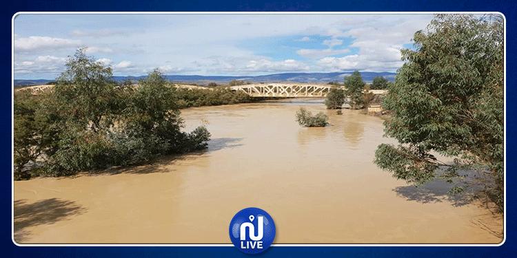 جندوبة: ارتفاع منسوب وادي تاسة والحماية المدنية تحذر