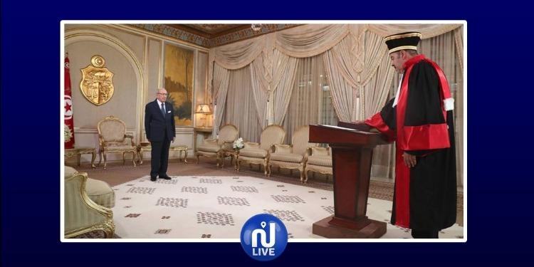 العضو الجديد للمجلس الأعلى للقضاء يؤدّي اليمين أمام رئيس الجمهورية