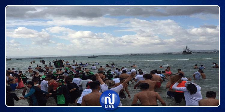7e édition de la baignade du jour de l'an à Hammamet