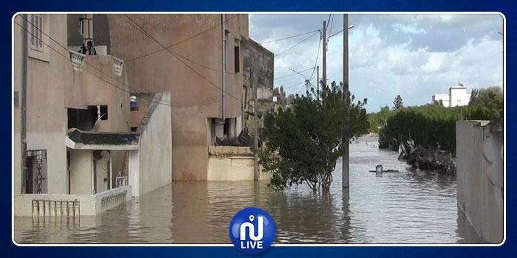 جندوبة: مياه وادي مجردة تحاصر عدد من التجمعات السكانية (صور)