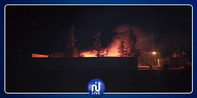 حرق مركز الحرس الوطني وسيارة أمنية بمعتمدية منزل بوزيان