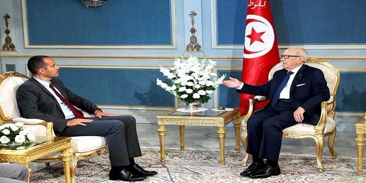 Béji Caïd Essebsi reçoit Yassine Brahim