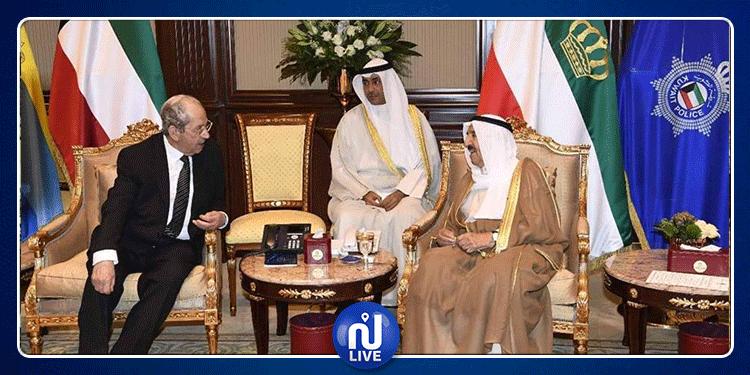 محمد الناصر يلتقي أمير الكويت