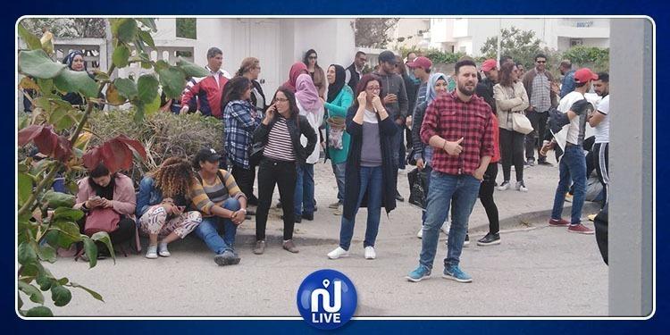 Le personnel de Nessma proteste devant la Haica (photo+vidéo)