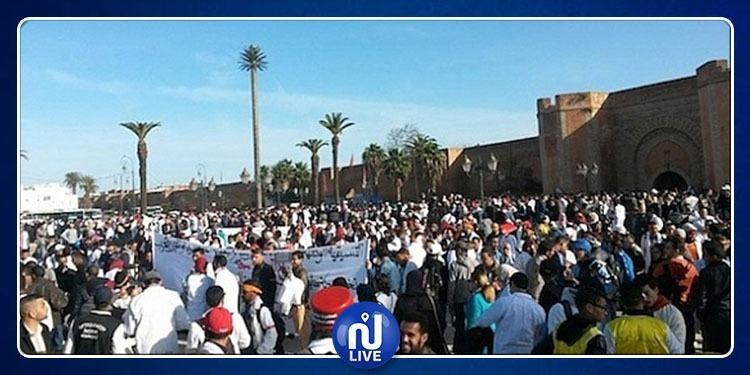 المغرب: إحتجاجات عارمة في الرباط (فيديو)