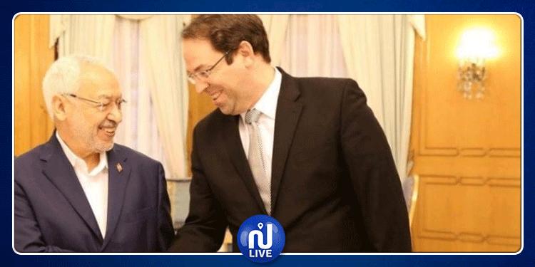 الغنوشي: يمكن ان يكون يوسف الشاهد مرشح حركة النهضة للانتخابات