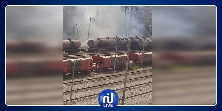 حريق داخل مبنى للسكك الحديدية في مصر
