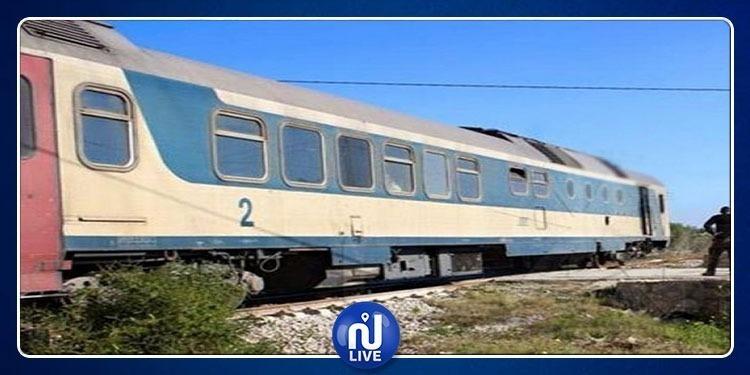 جنوح قطار غار الدماء تونس عن السكة