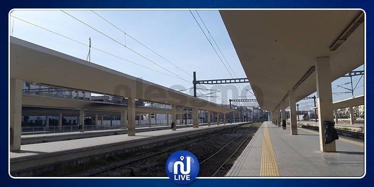 محطة تونس: شلل تام في حركة سير القطارات (صور)