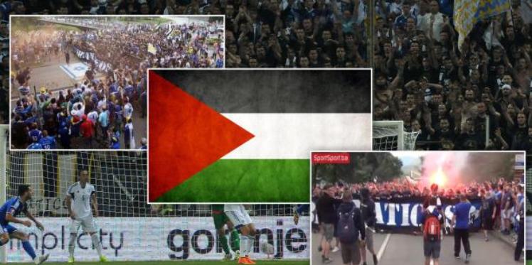 جماهير البوسنة تهتف لفلسطين