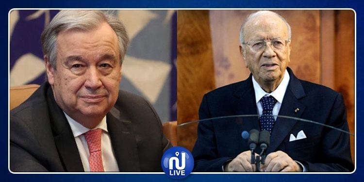 الوضع في ليبيا محور لقاء رئيس الجمهورية بالأمين العام للأمم المتحدة