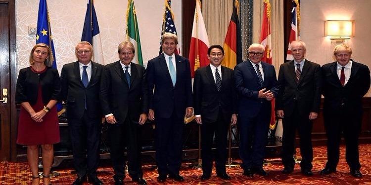 وزير الخارجية الفرنسي: ''مجموعة السبع لم تتفق على توسيع العقوبات المفروضة على روسيا وسوريا''