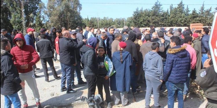 الهوارية-نابل: إغلاق الطريق في منطقة بوكريم