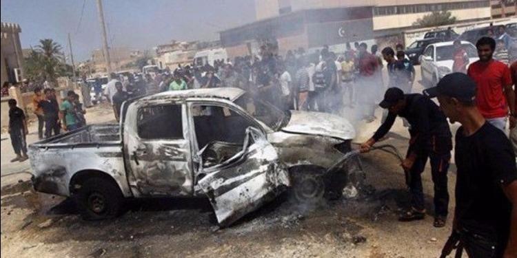 ليبيا : هجوم انتحاري يستهدف نقطة تفتيش في مصراتة