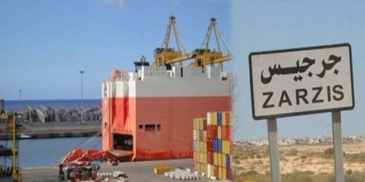 من الميناء التجاري بجرجيس...تصدير 84367 طنّا من الملح نحو أوروبا