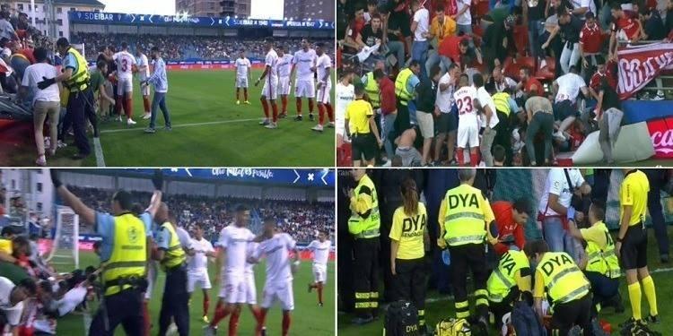 Football: Des dizaines de blessés dans l'effondrement de gradins à Eibar (Espagne)